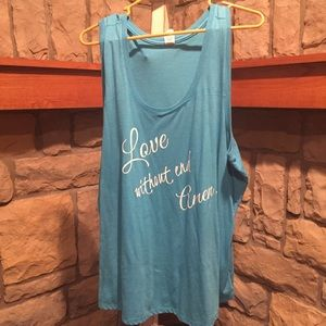 Women's 3xl Tank Too Love without end Amen